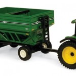 JD 8130 Tractor with J&M Gravity Wagons