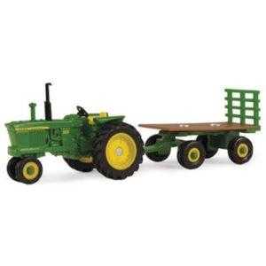jd 3010 with hay wagon
