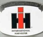 ih farming is our business white belt buckle