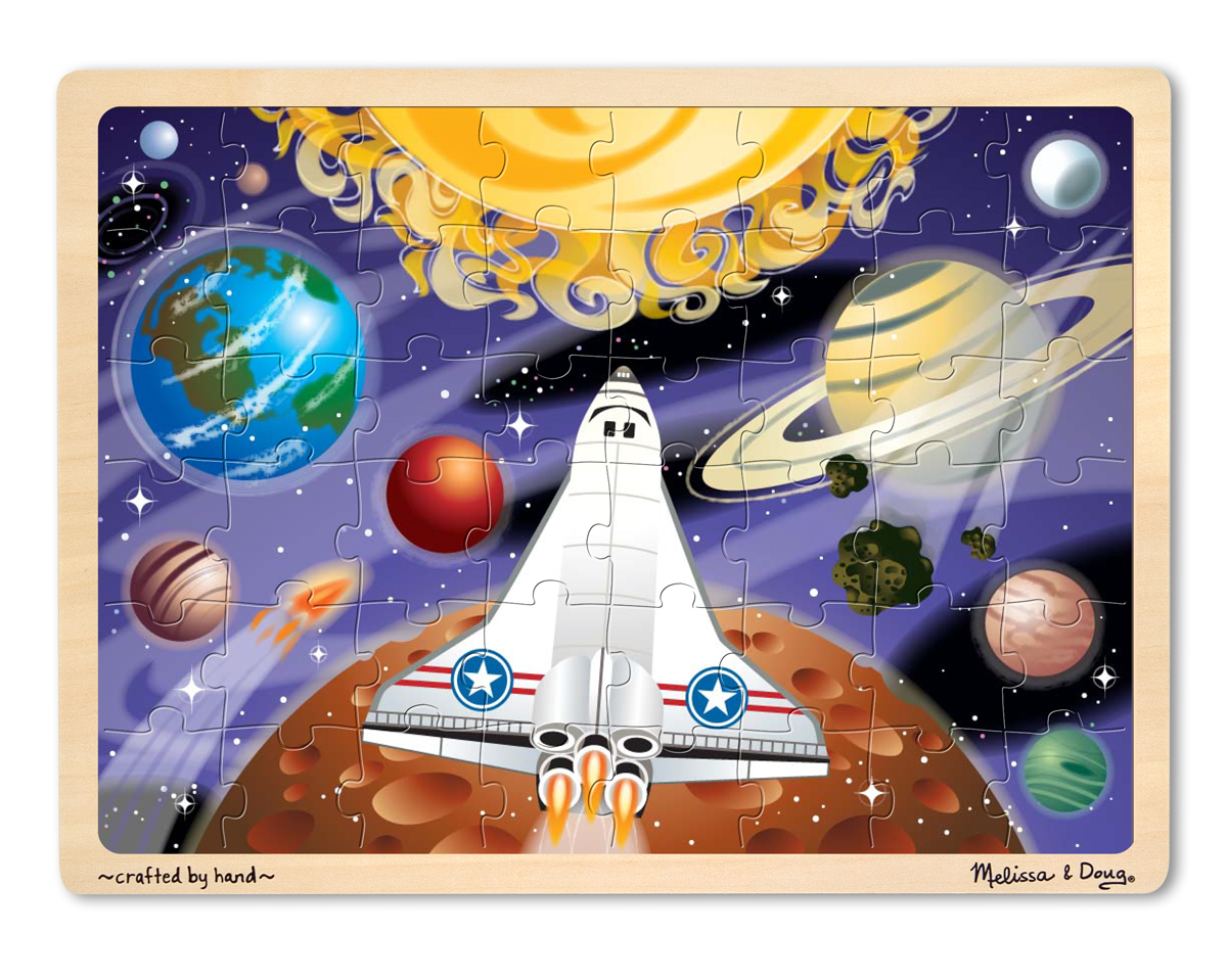 Space Voyage 48 Piece Wood Puzzle Down On The Farm