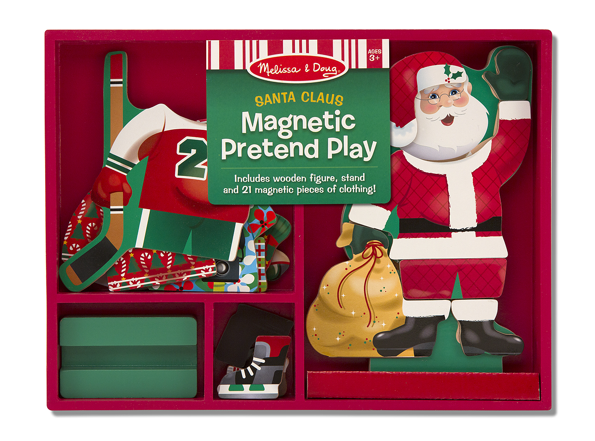 Magnetic santa claus pretend play down on the farm