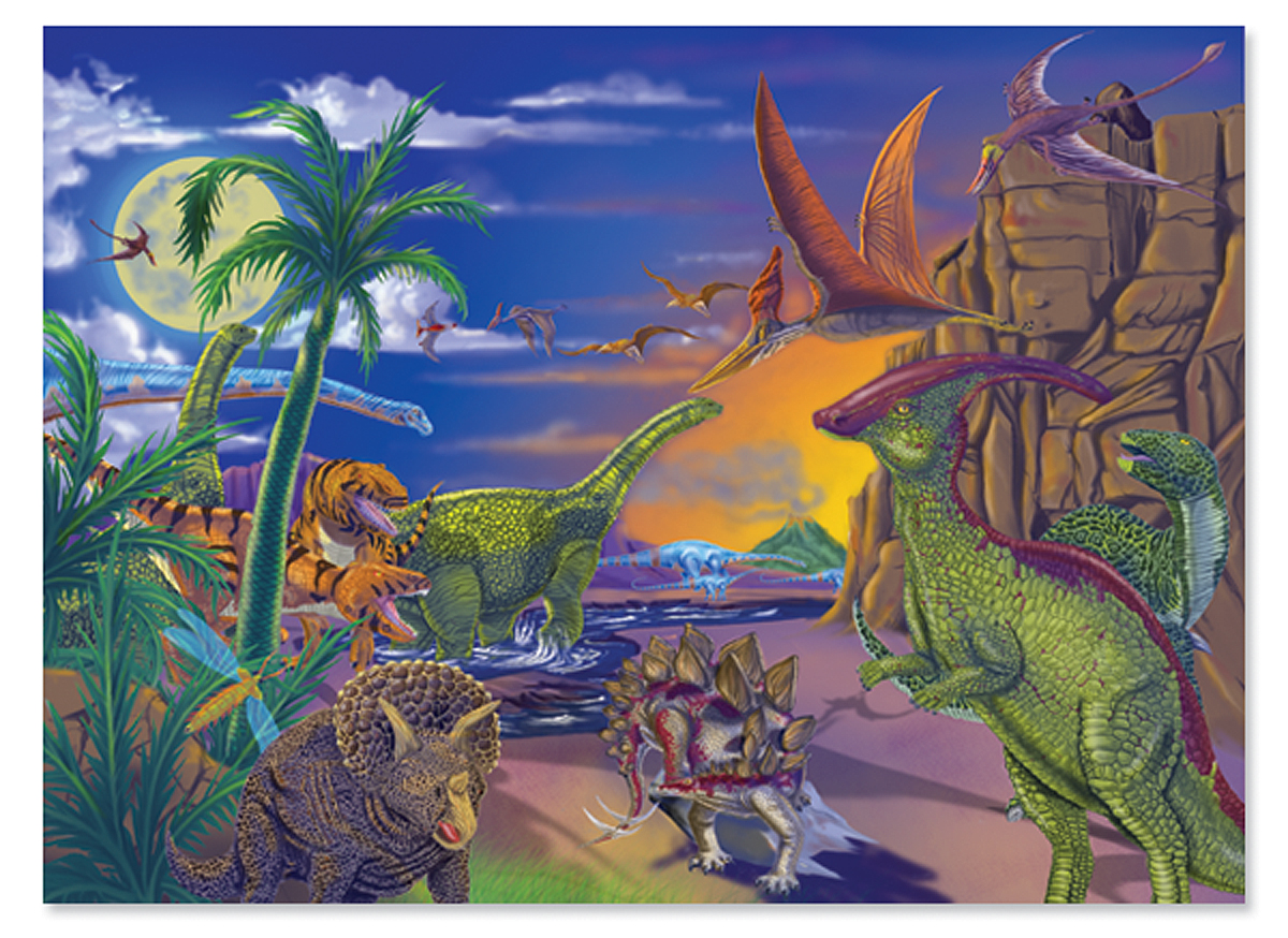 Land Of Dinosaurs 60 Piece Puzzle Down On The Farm