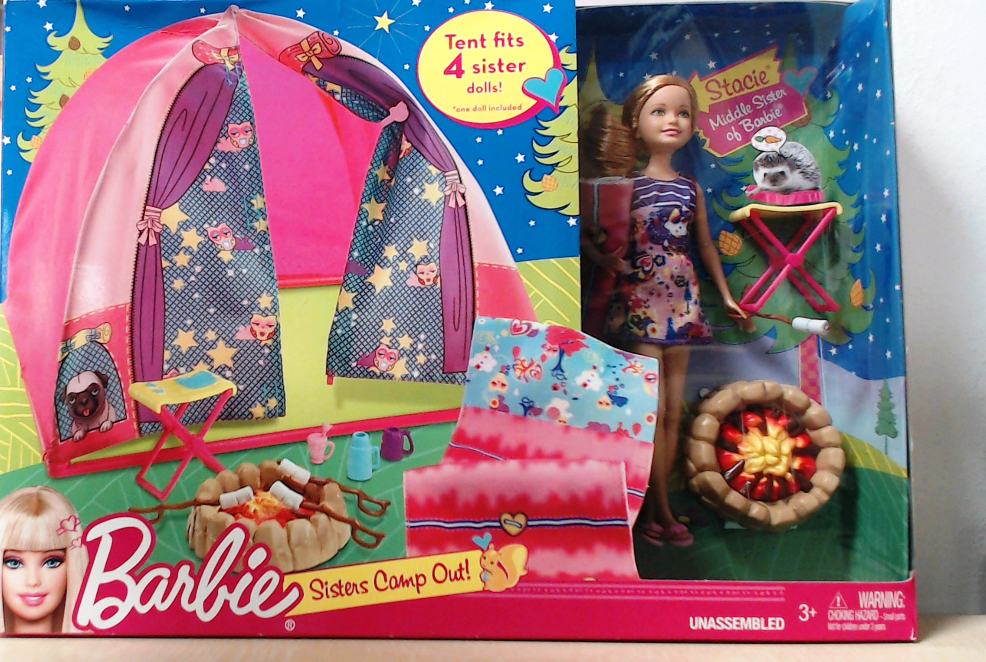Stacie; Middle Sister of Barbie with Tent u0026 Accessories  sc 1 st  Down On The Farm | Toys & Stacie; Middle Sister of Barbie with Tent u0026 Accessories | Down On ...