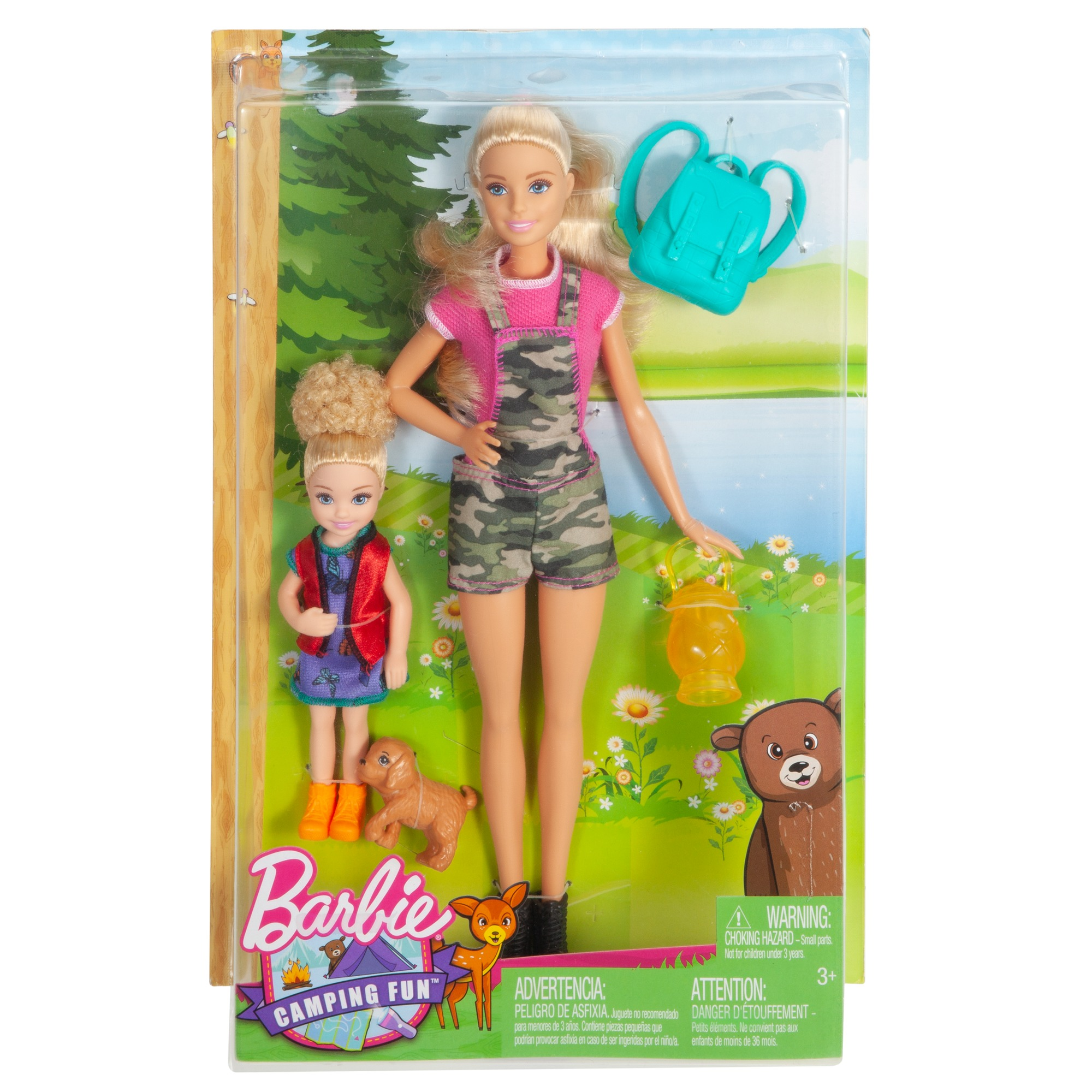 Camping Fun Sisters Barbie And Chelsea Dolls 2 Pack Down On The Farm